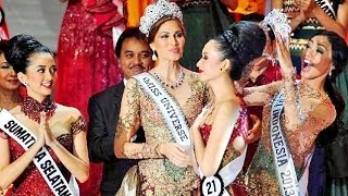 Elvira Devinamira Puteri Indonesia 2014 crowning moment