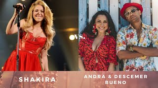 Shakira Vs. Andra & Descemer Bueno   Camarero Waka [mashup]