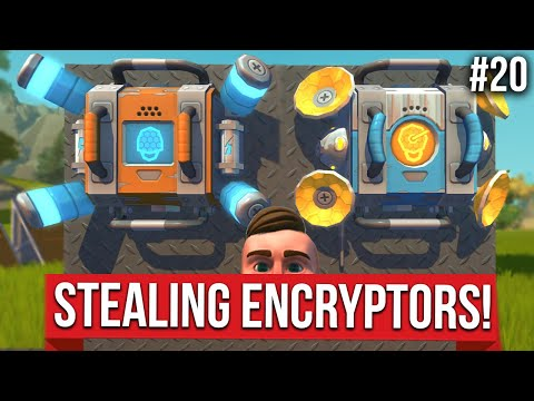 HOW TO STEAL ENCRYPTORS FROM THE WAREHOUSE!! - SCRAP MECHANICS SURVIVAL #20