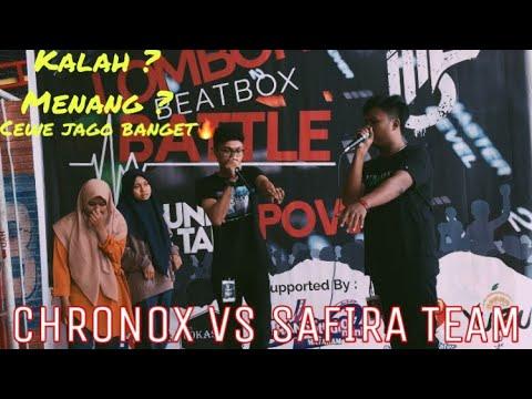 CHRONOX VS SAFIRA TEAM LOMBOK BEATBOX BATTLE 2019/ BATTLE EPIC LAWAN CEWE BOS🔥