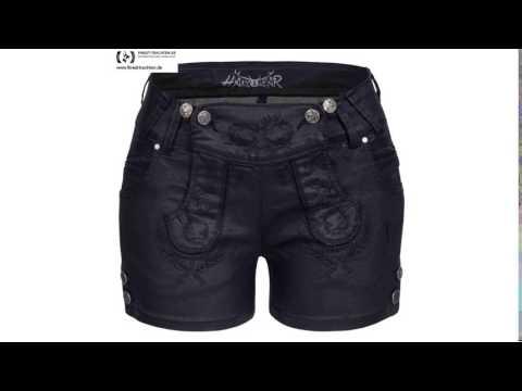 Finest-Trachten.de: Jeans-Lederhose Schwarz von Hangowear