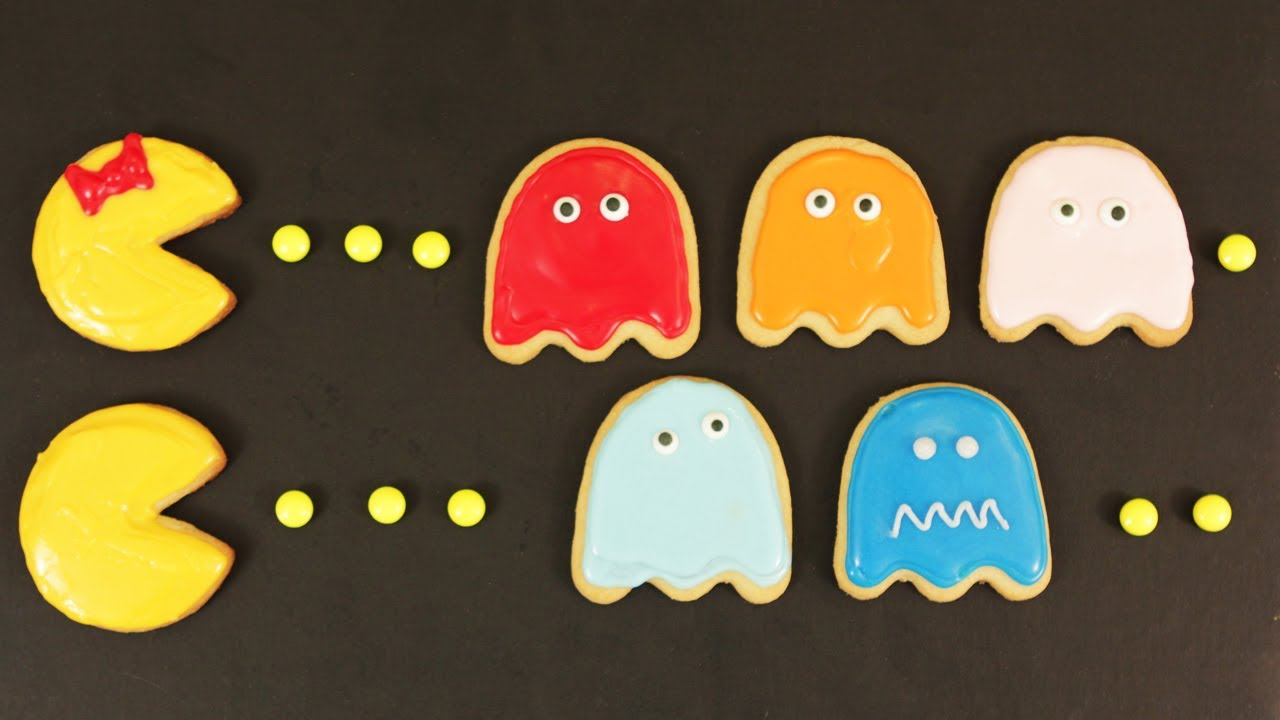 HOW TO MAKE PACMAN COOKIES - NERDY NUMMIES thumbnail