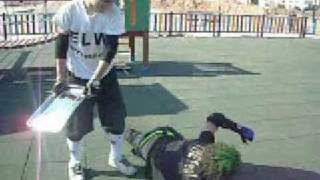 preview picture of video 'No Way Out 2009 Angel Master Vs THE FeaR ( ELW Championship ) Street Fight [ Part 2/2 ]'