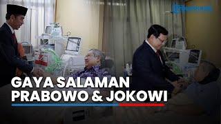 Beda Gaya Bersalaman antara Jokowi dan Prabowo saat Menjenguk SBY