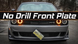 Challenger Hellcat No Drill Front Plate Install Sto-n-Sho