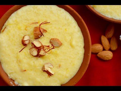 Kesar Phirni Recipe | Diwali Sweet Recipe | Rice Pudding with Saffron Flavour
