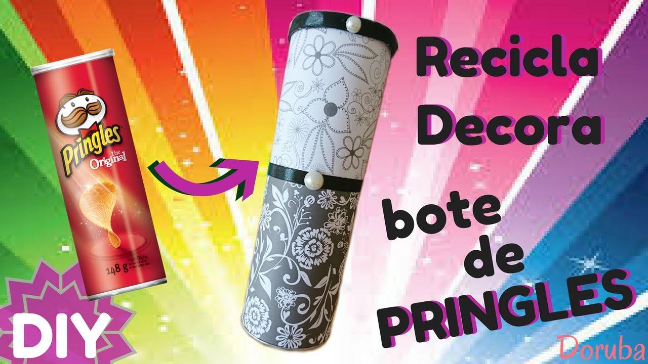 Recicla un bote de Pringles - Como decorar un bote de Pringles - Manualidad caja de regalo - Doruba