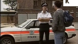1980s Police Stop and Search Black Teenage Boy, UK Archive Footage
