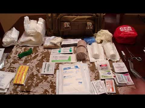 Survival First Aid kit. Review of my new first aid/trauma kit.