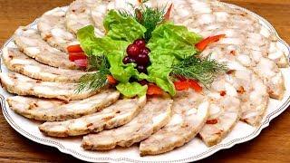 Домашняя ветчина из курицы! Потрясающе вкусная замена магазинной колбасе! Готовим в ветчиннице!