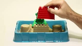 Sand castles 💕Superhero Play Doh Stop motion cartoons