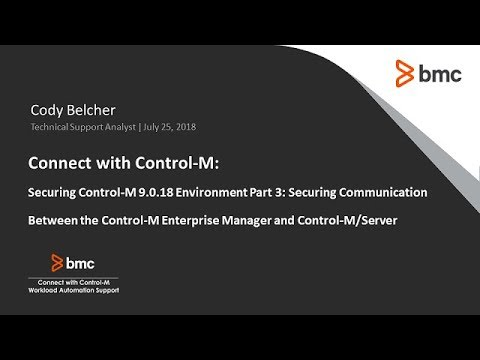 Connect With Control-M: Enabling SSL Between Control-M/Enterprise Manager And Control-M/Server Mp3