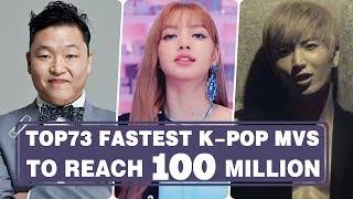 [TOP 73] FASTEST KPOP MUSIC VIDEOS TO REACH 100M VIEWS • June 2018