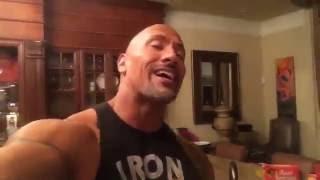 """DWAYNE JOHNSON """"THE ROCK"""" SHARES HIS ROCK PANCAKE RECIPE"""