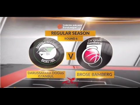 EuroLeague Highlights RS Round 6: Darussafaka Dogus Istanbul 72-70 Brose Bamberg