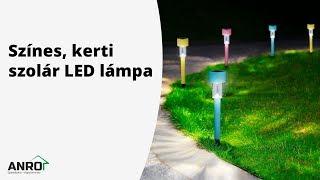 Videó: Globiz Színes, kerti szolár LED lámpa