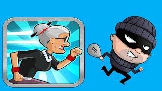 ДОГОНИ ВОРИШКУ Бабушка в погоне за вором веселое яркое видео для детей игра Granny Smith