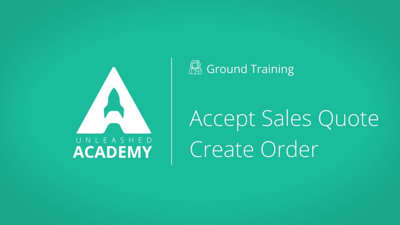 Accept Sales Quote & Create Order YouTube thumbnail image
