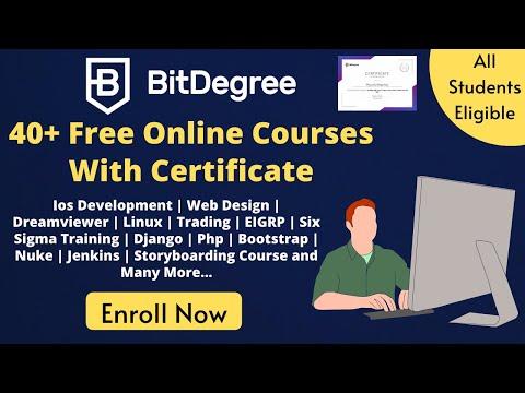 Bitdegree - 40+ Free Certification Courses 2020   Free Coding ...