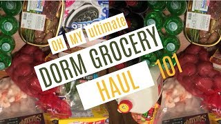 Ultimate Dorm Grocery Haul!! 2017| Ashley