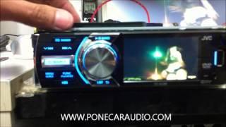 การตั้งเสียง เวลา วิธีใช้ JVC KD AV300 CLOCK SETTING  ราคา 5500 T 02 9323485 ปรับ จูน