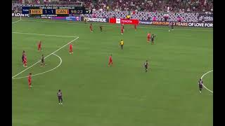 Mexico VS Canada Clutch Goal in stoppage time!