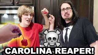 HE ATE A PIECE OF THE WORLD'S HOTTEST PEPPER!! (TBContinued..)