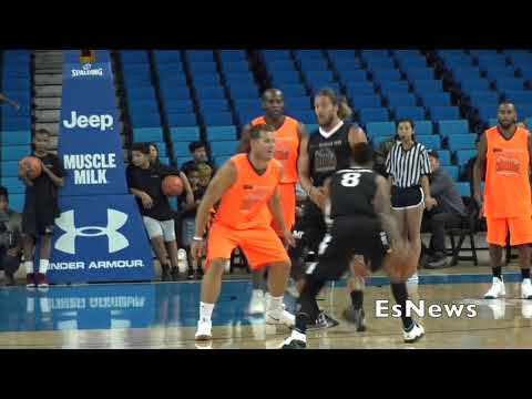 Floyd Mayweather, Ton Of NFL Player & Rappers Basketball Game At UCLA  EsNews Boxing