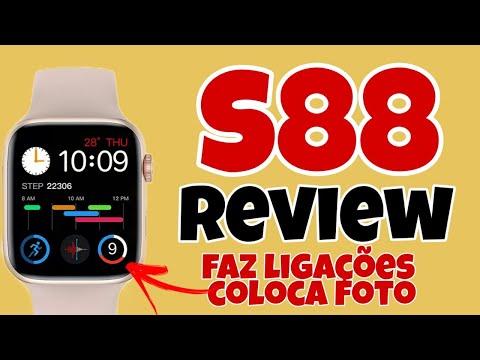 LANÇAMENTO - S88 SMARTWATCH REVIEW - ESTILO APPLE WATCH