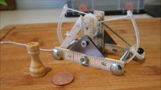 Make A Mini Da Vinci Catapult!