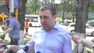 В Новокузнецк впервые доставили машину для литья бордюров