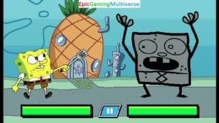 SpongeBob SquarePants VS DoodleBob In A Nick's Not So Ultimate Boss Battles Match