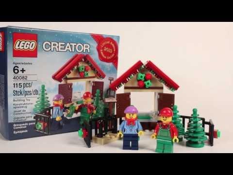 Vidéo LEGO Saisonnier 40082 : Stand de sapins de Noël