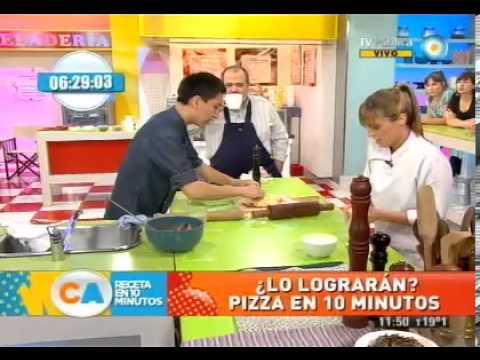 3 pizzas en 10 minutos!