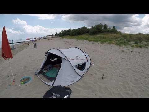 Quechua Fresh&Black Zelt als Strandzelt/Strandmuschel