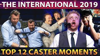 TOP 12 HYPE CASTER Moments of TI9 The International 2019 Dota 2