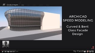 How to model a curved & bent glass facade