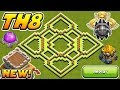 Town Hall 8 (Th8) FARMING Base 2018 With REPLAYS! | COC Th8 TROPHY AND FARMING Base 2018!