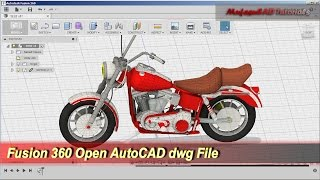 Fusion 360 Open AutoCAD DWG File