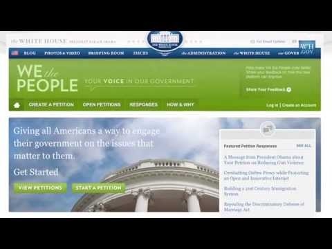 Petition Signers at the White House