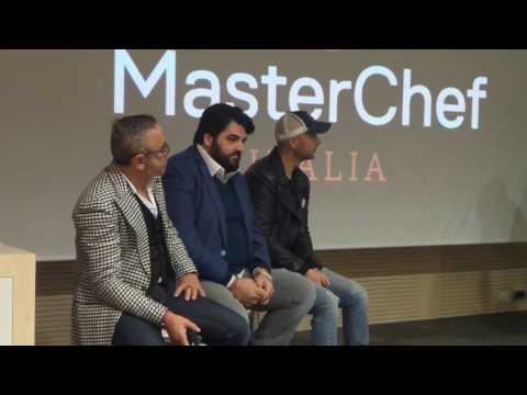 Immagini- Milano, al via Masterchef Celebrities: Cucinotta, Magnini e Britti ai fornelli