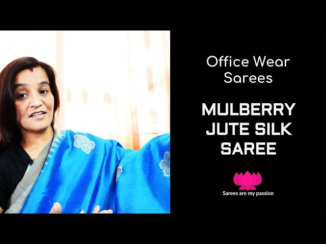 41 Mulberry Jute Silk Saree - Office Wear Sarees - Sarees are my passion