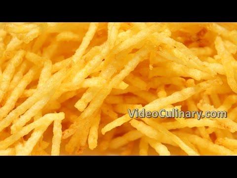 Thin French Fries Recipe - Crispy Straw Potatoes