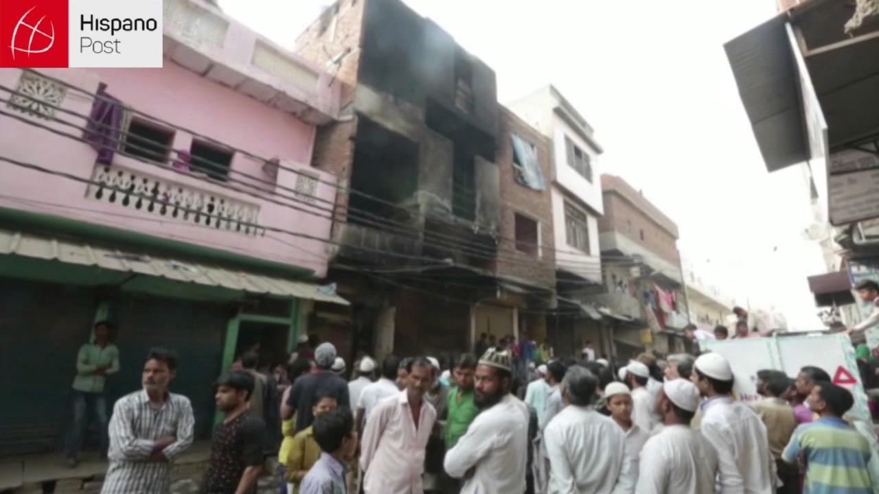 Trece personas pierden la vida durante un incendio en Nueva Delhi
