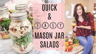 QUICK & EASY MEAL PREP IDEAS- MASON JAR SALAD RECIPES (KETO FRIENDLY)