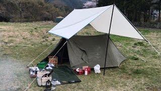 諸々第13話『ソロキャンプ2017・桜満開』静岡県の無料キャンプ場#2