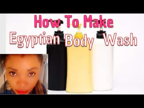 How To Make Egyptian Body Wash  Home Made Body Wash  100% Organic