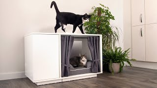 Luxury Cat Bed - NEW Maya Nook Indoor Cat House | Omlet World Famous Pet Products