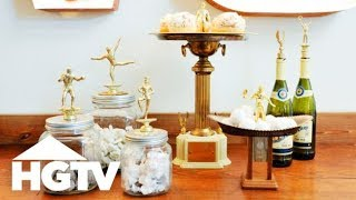 How To Upcycle Your Old Trophies - The Find & The Fix - HGTV
