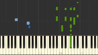 Empire State of Mind, pt 2 Alicia Keys - solo piano tutorial Synthesia